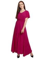 pink solid maxi dress -  online shopping for Dresses