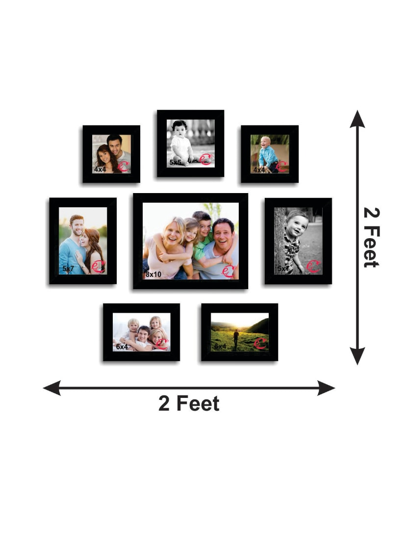 Buy Memory Wall Collage Photo Frame Set Of 8 Individual Photo Frames