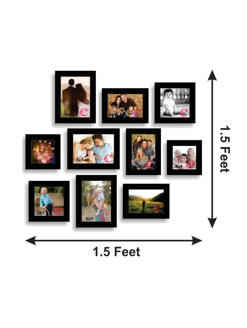 Buy Memory Wall Collage Photo Frame Set Of 10 Individual Photo ...