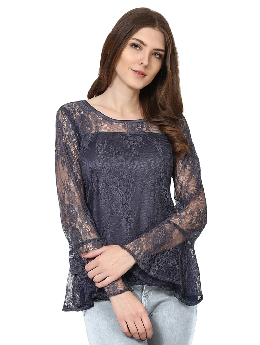 3f7d246ed6be4 Buy Bell Sleeve Mesh Top for Women from Shilpkala Fns for ₹838 at 35% off