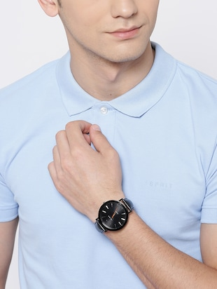Nucleus Analog Watch for Formal & Casual Wear for Gents NTGBKBKBK - 15156969 - Standard Image - 4