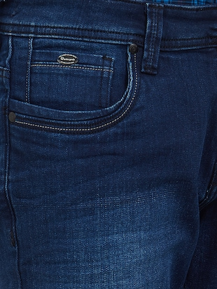 blue cotton washed jeans - 15171617 - Standard Image - 4