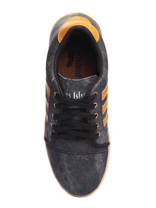 black Denim lace up sneaker - 15173359 - Standard Image - 4