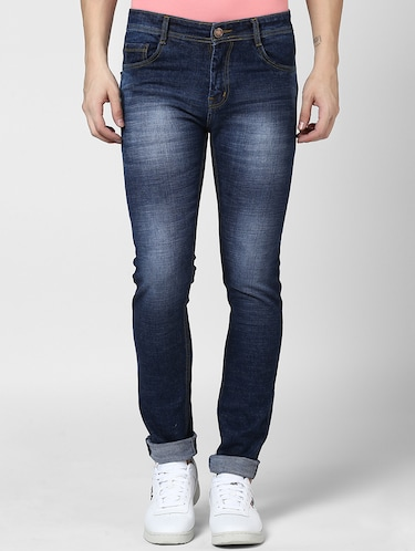 blue denim washed jeans - 15175247 - Standard Image - 1