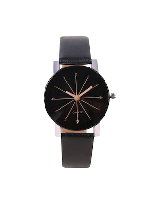 Shunya Black Strap Analog couple Watches - 15175256 - Standard Image - 4