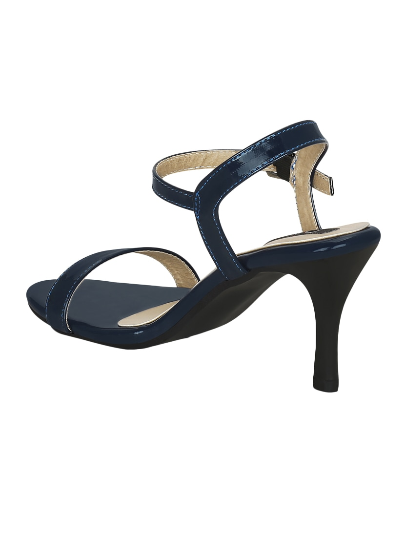 d8019ac492a Buy Navy Faux Leather Ankle Strap Sandals for Women from Kielz for ₹967 at  56% off