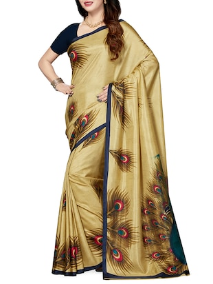 set of 2 multicolor silk blend printed saree combo with blouse - 15176504 - Standard Image - 4