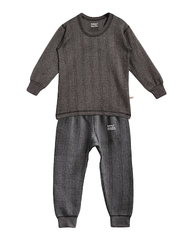 grey cotton blend thermal set - 15176742 - Standard Image - 1