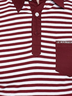 maroon cotton pocket t-shirt - 15178449 - Standard Image - 4