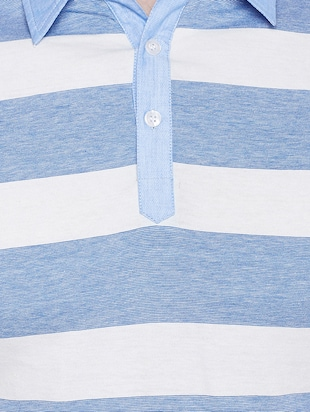 light blue cotton polo t-shirt - 15178455 - Standard Image - 4