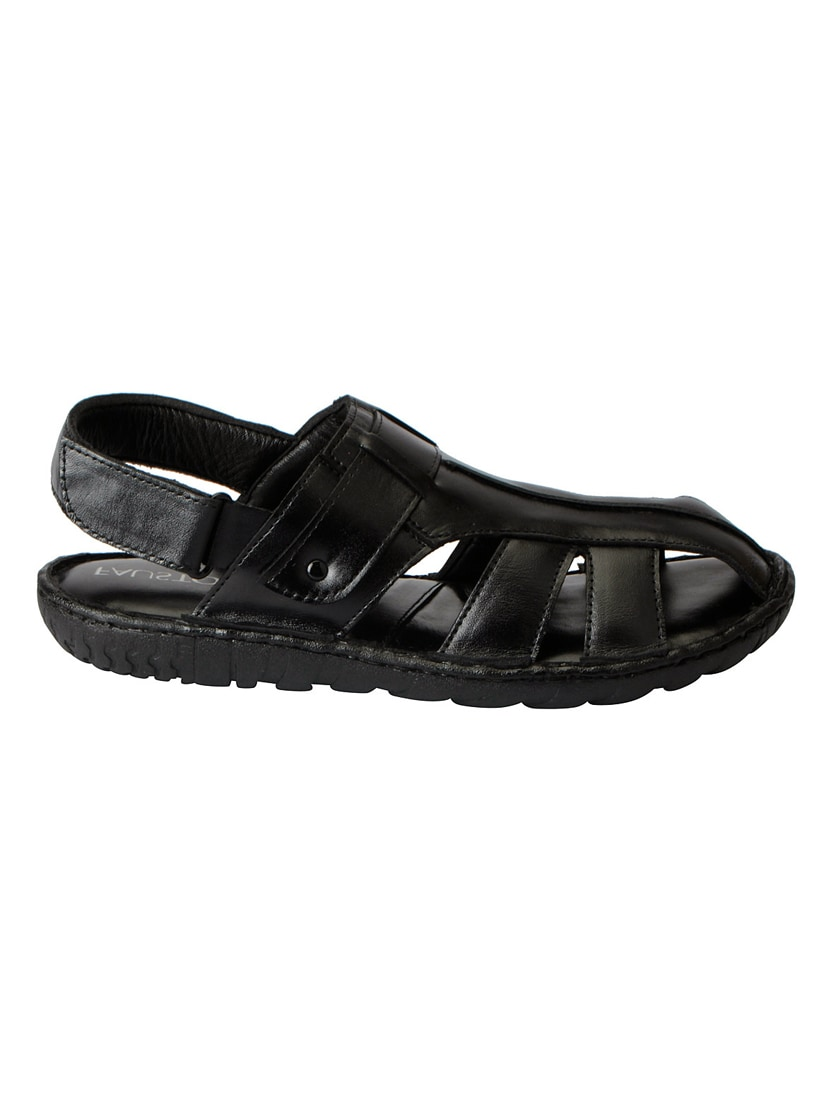 d6a5c5d7785c Buy Black Leather Back Strap Sandal for Men from Fausto for ₹899 at 0% off