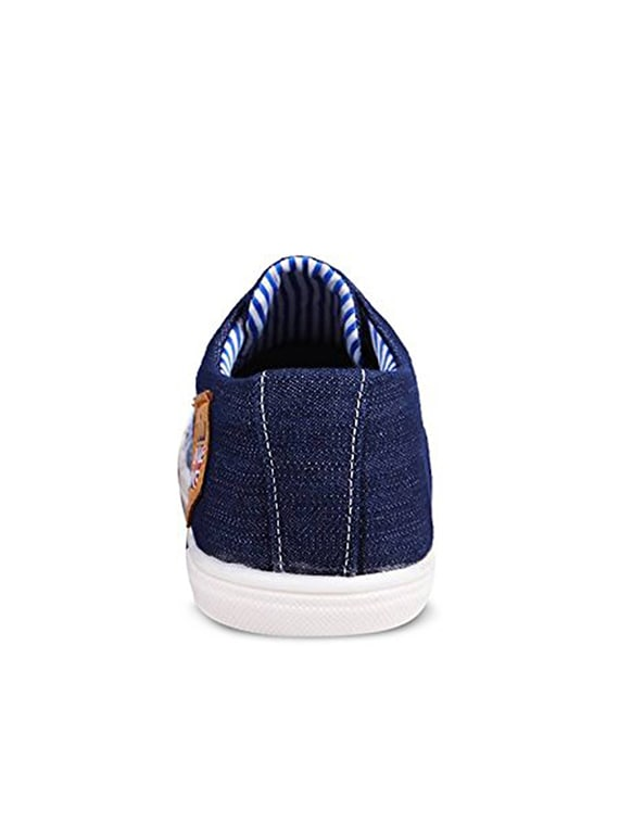 top fashion b573a ec7e7 Buy Blue Denim Lace Up Sneaker for Men from Herrer for ₹1598 at 0% off    2019 Limeroad.com