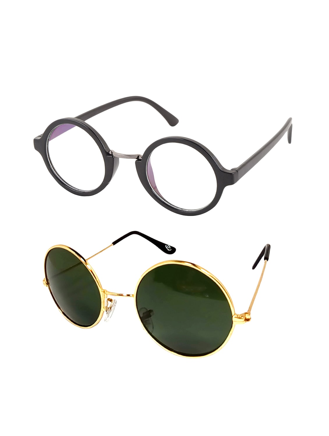 010f33d3d8 Buy Aventus Stylish Sunglasses Combo-clear Round Sunglasses   Green Metal  Round Sunglasses For Men Women by Aventus - Online shopping for Sunglasses  in ...