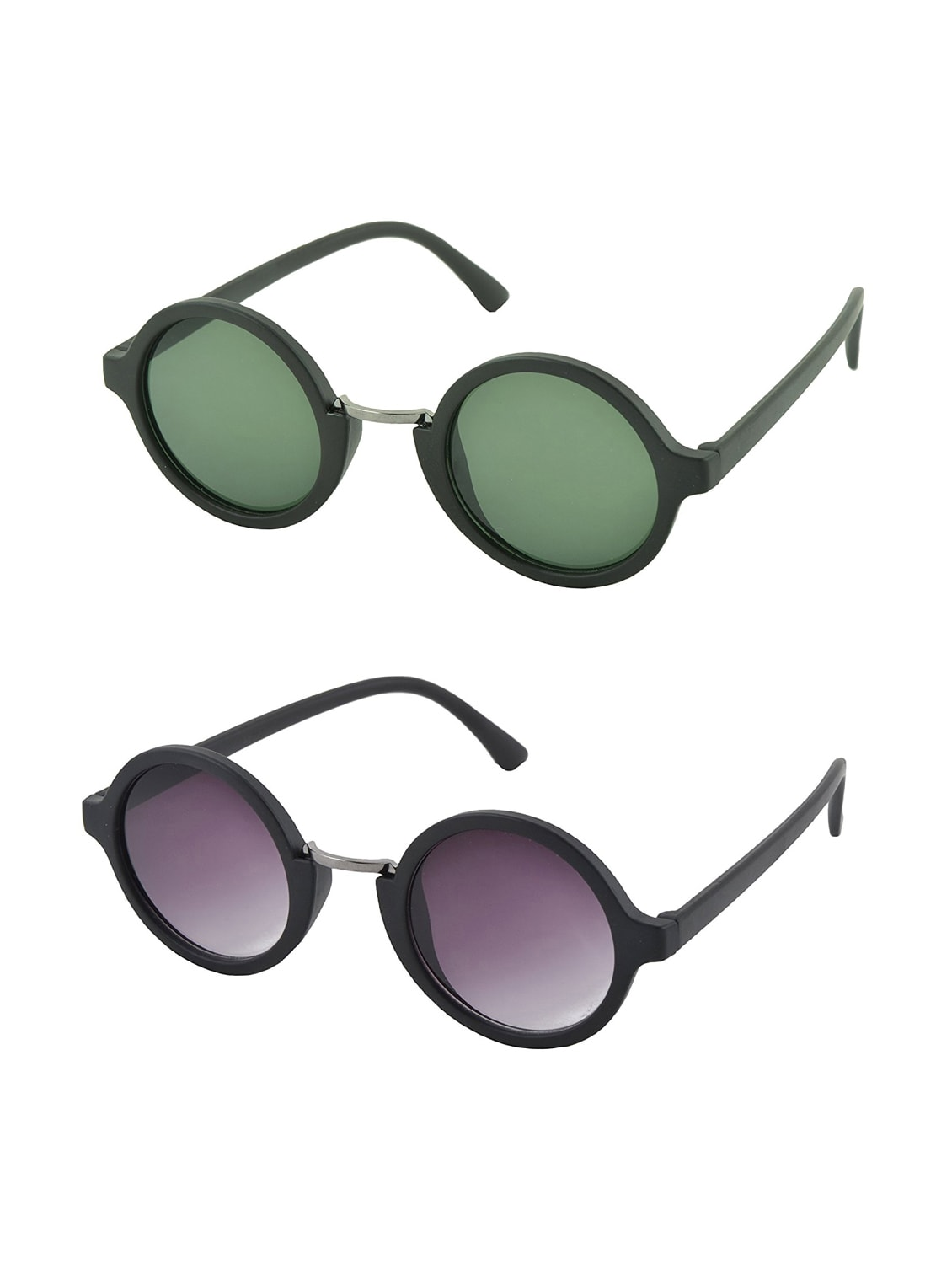 ecd098d51c Buy Aventus Stylish Sunglasses Combo-black   Green Round Sunglasses For Men  Women by Aventus - Online shopping for Sunglasses in India