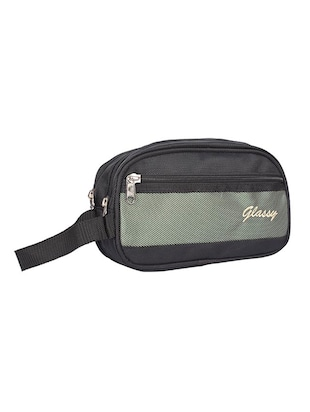 black leatherette (pu) regular pouch - 15189898 - Standard Image - 4