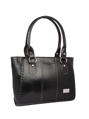 black leatherette (pu) regular handbag - 15189936 - Standard Image - 4