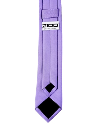 purple satin tie - 15190410 - Standard Image - 4