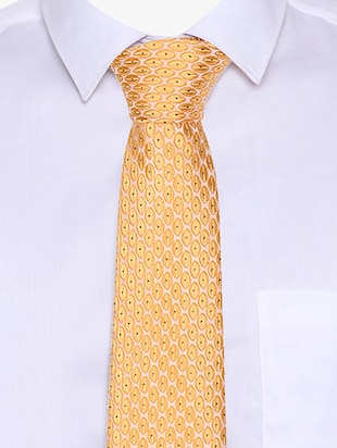 yellow blended tie - 15190425 - Standard Image - 4