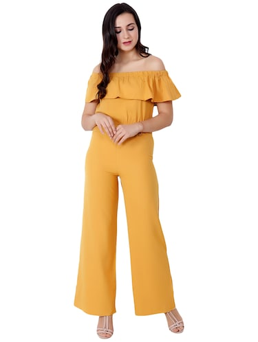 95995c99757 Buy Solid Red Cotton Jumpsuit by Liebemode - Online shopping for ...