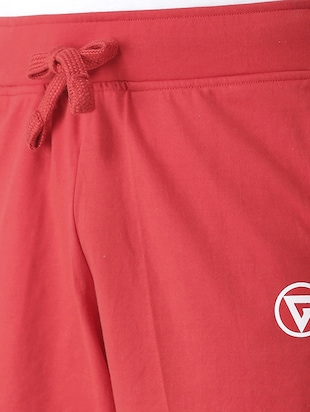 red cotton shorts - 15211475 - Standard Image - 4