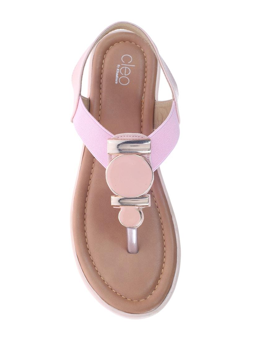f0eb95c179b ... Khadim s Cleo Women Pink Casual Heel Sandal - 15213983 - Zoom Image - 4