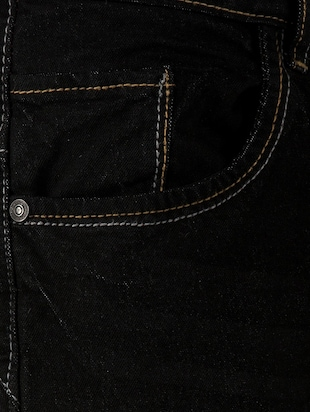 black cotton plain jeans - 15214715 - Standard Image - 4