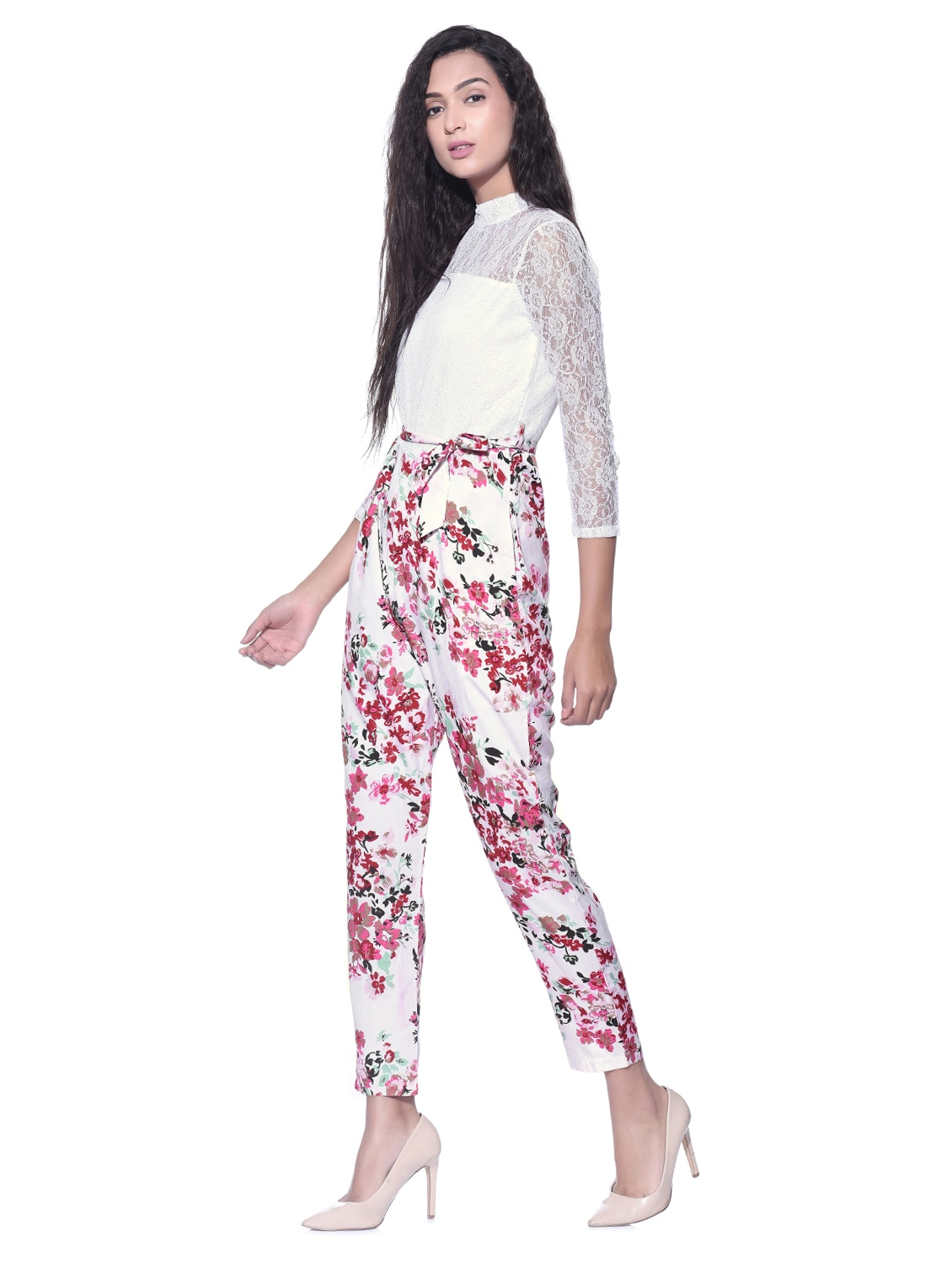 da8b9d929833 Buy Floral Crepe Full Leg Jumpsuit for Women from Aayu for ₹546 at 45% off