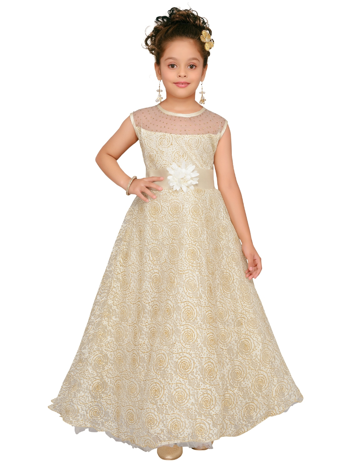 5799ad0ffa Buy White Net Gown by Aarika - Online shopping for Party Gowns in ...