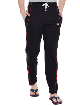 multi cotton  full length track pant - 15231833 - Standard Image - 4