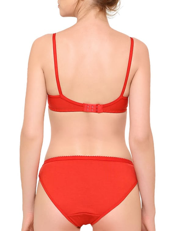 61e7f1677b Buy Set Of 3 Multicolored Solid Bra And Panty Sets by Baremoda - Online  shopping for Bras And Panty Set in India