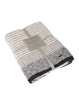 Stripped Knitted Throw - 15243477 - Standard Image - 4