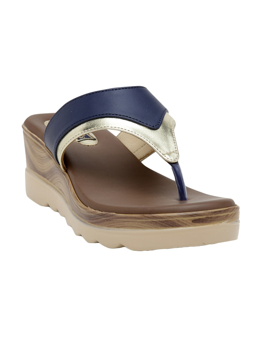 05cf43c705f Buy Blue Toe Separator Wedge by Flat N Heels - Online shopping for Wedges in  India