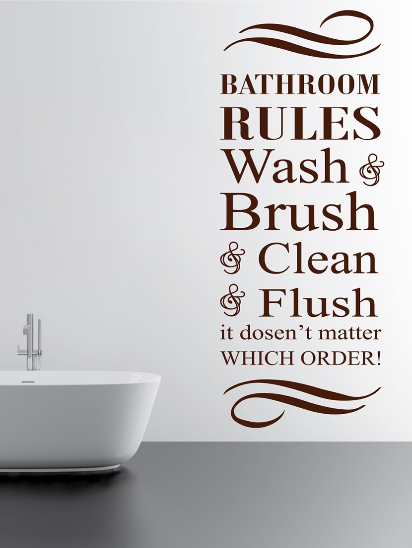 Bathroom Rules Wall Decal By Decor Kafe Online Ping For Decals Stickers In India 15244441