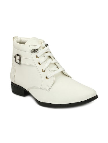 c31ca4e1f834 Buy White Leatherette Lace-up Derbys for Men from Iconic Shoes for ...