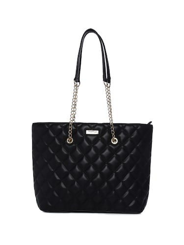 black leatherette (pu) regular handbag - 15272182 - Standard Image - 1