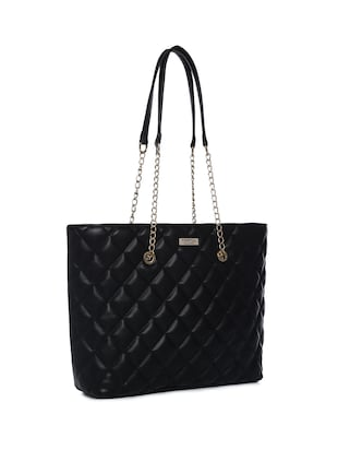 black leatherette (pu) regular handbag - 15272182 - Standard Image - 4