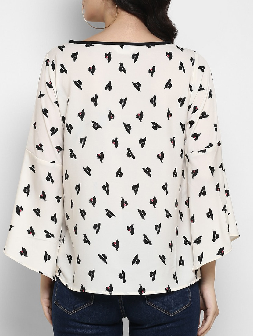 ac8e940771f8ff Buy White Printed Top for Women from Zima Leto for ₹428 at 55% off ...