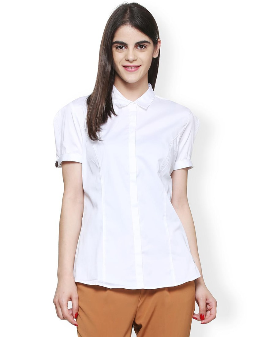 01eceae9fcb Buy Front Dart Detail Formal Shirt by Van Heusen - Online shopping for  Shirts in India