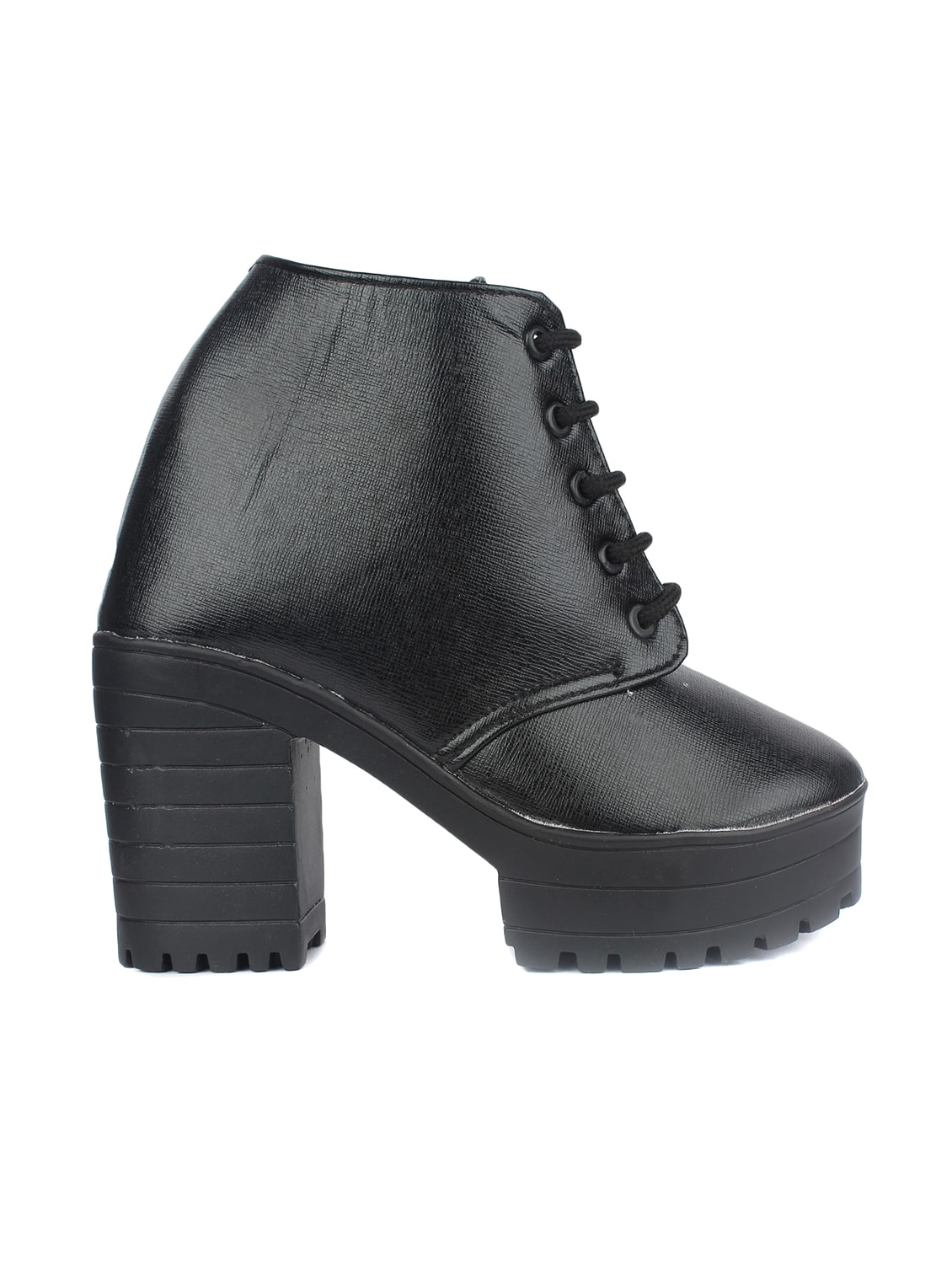 9bd03afa6ade Buy Black Lace-up Ankle Boot for Women from Orysta for ₹728 at 27% off
