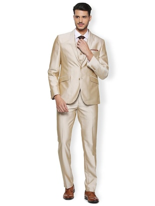 85ff6be4e7f Buy Beige Terry Rayon Three Piece Suit for Men from Van Heusen for ...
