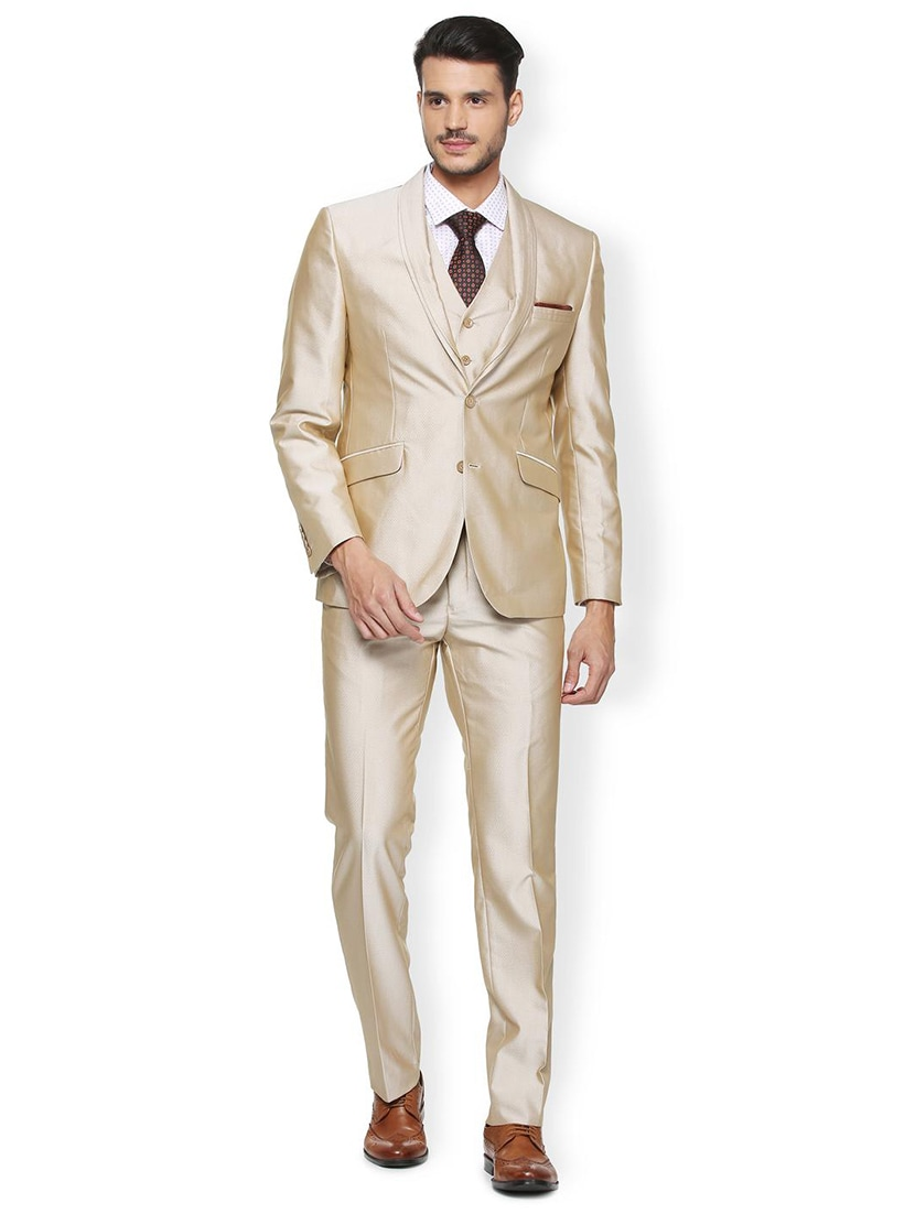 2452ff23ac1 Buy Beige Terry Rayon Three Piece Suit for Men from Van Heusen for ₹8319 at  48% off
