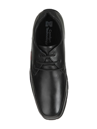 red chief black Leather lace-up derby - 15289404 - Standard Image - 4