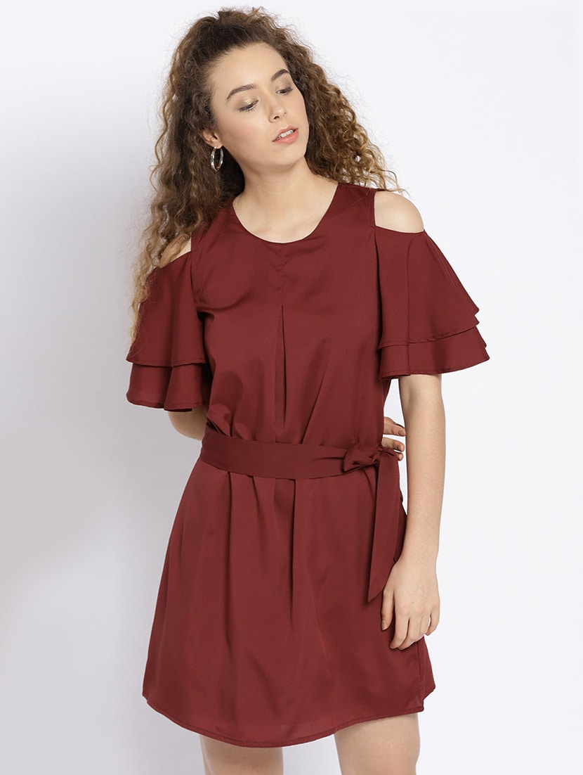 a79339e06ed9 Buy Maroon Solid A-line Dress for Women from Sera for ₹600 at 60% off