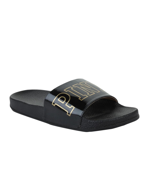 1bfdb8d81 Buy Black Rubber Slides Flip Flops by Adobo - Online shopping for Flip  Flops in India   15306637