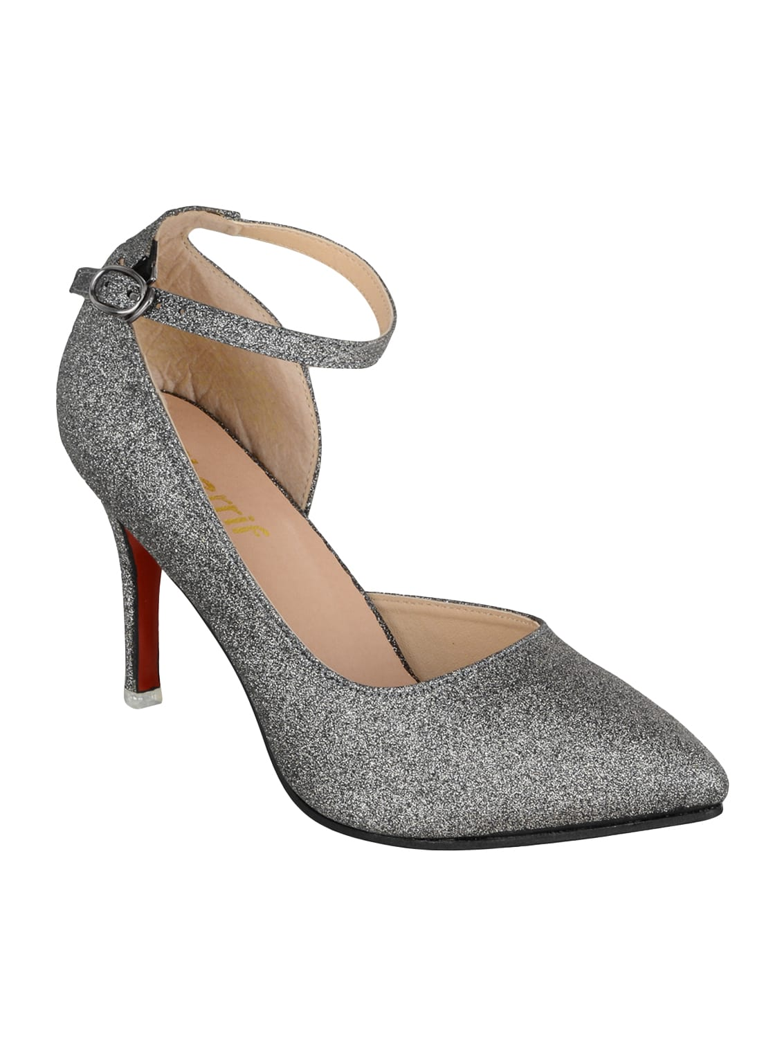 ebd5a28633b Buy Grey Faux Leather Ankle Strap Sandals by Sherrif Shoes - Online  shopping for Sandals in India