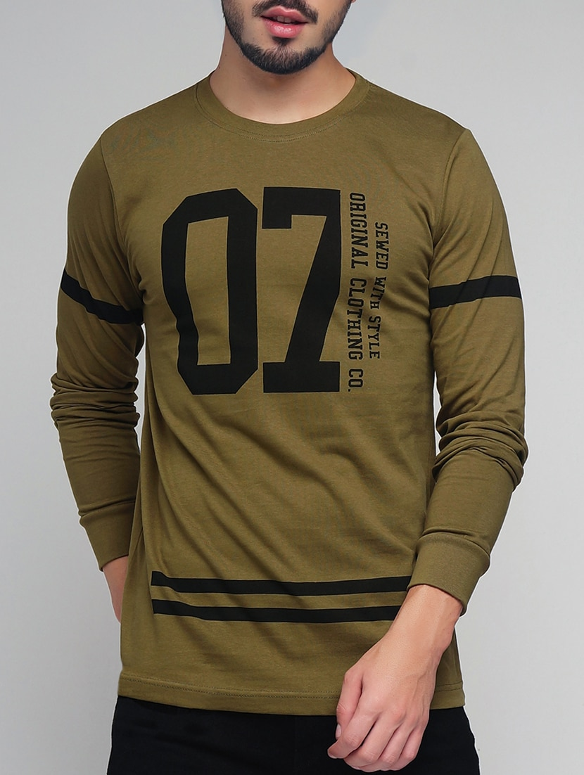 5966b2e26 Buy Green Cotton Front Print T-shirt for Men from Difference Of Opinion for  ₹500 at 50% off | 2019 Limeroad.com