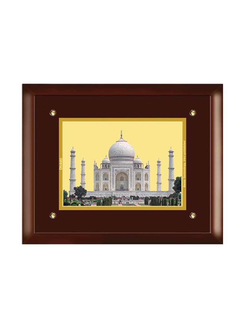 ded270f0923 Buy Mdf Wall Hanging Frame Gold Plated Normal Foil Taj Mahal by Diviniti -  Online shopping for Wall Hanging in India