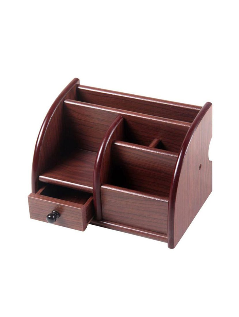 Desi Karigar Wooden Letter Holder Visiting Card Mobile Stand Pen Office Desktop Accessory By Ping For