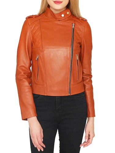 brown leatherette jacket - 15318014 - Standard Image - 1