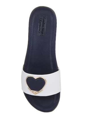 white  slip on sandal - 15318242 - Standard Image - 4
